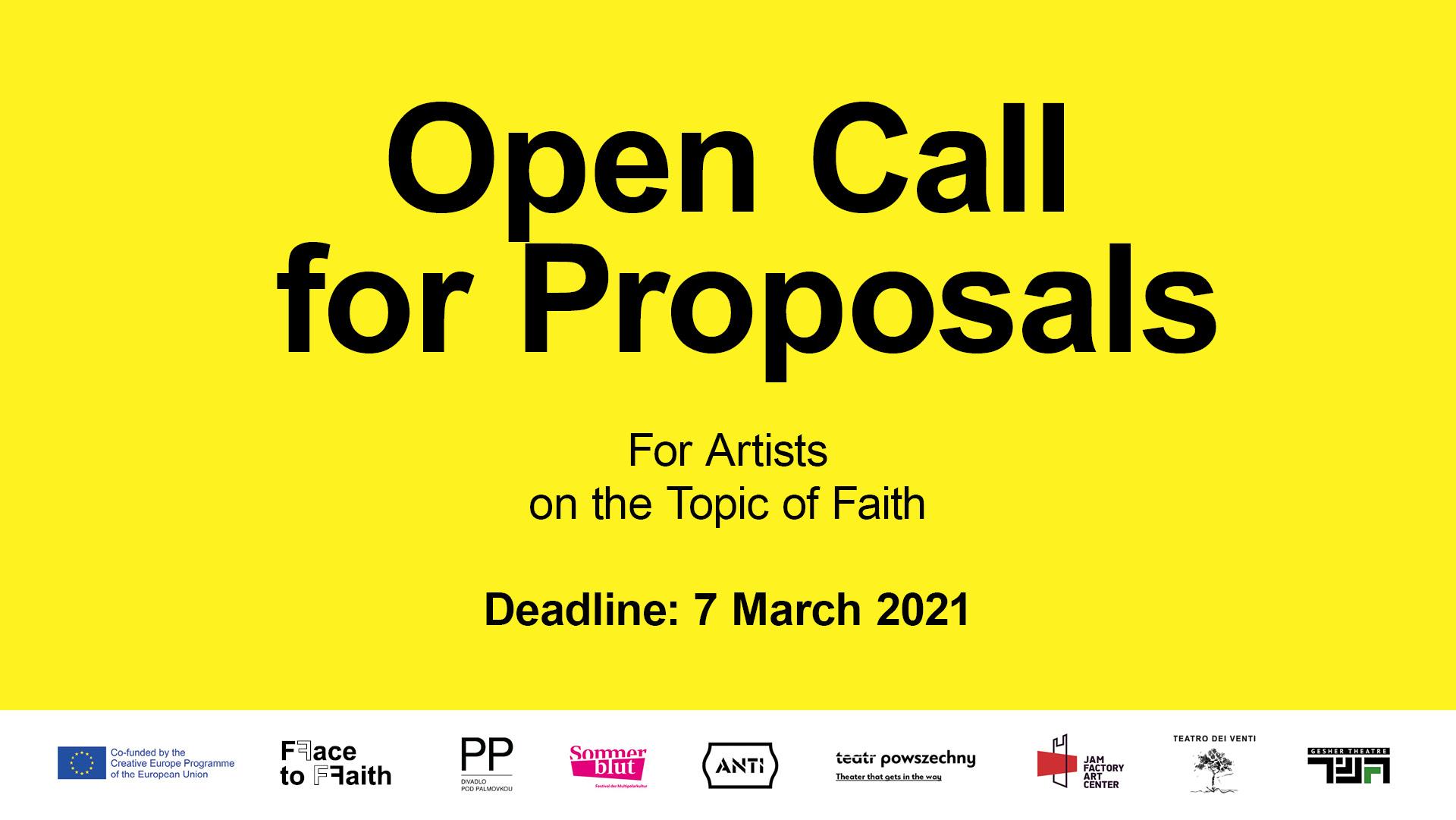 výzva face for faith pre umelcov