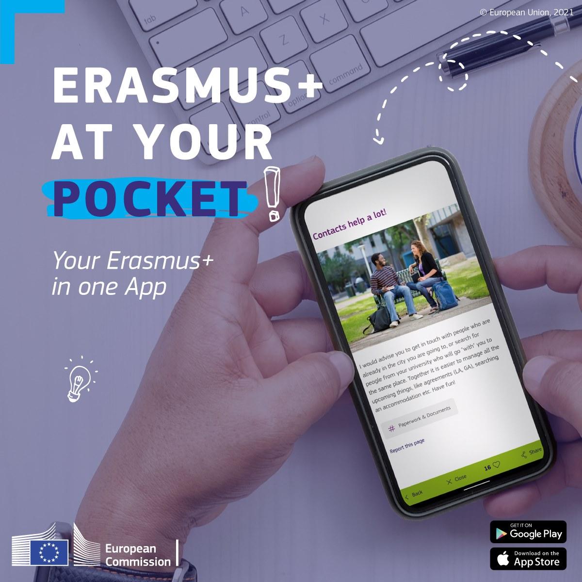 nová aplikácia Erasmus